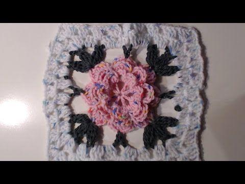 Piastrella a uncinetto con fiore e archetti i tutorial di camilla