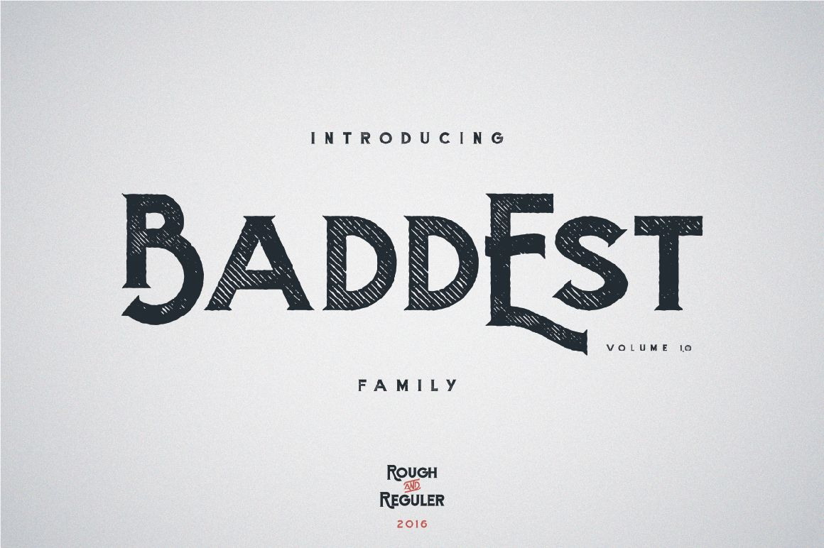 The baddest font in town! Great for show off text and awesome, attention seeking headers! Combine with a script font such as Rinstonia (also included in this bundle) and you'll be in font heaven!