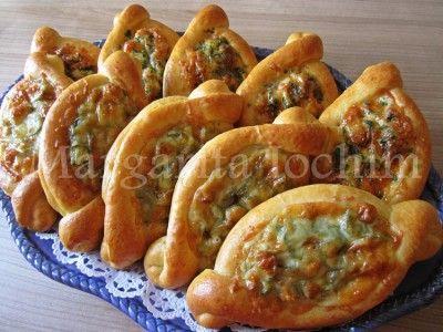 Открытые пироги с начинкой