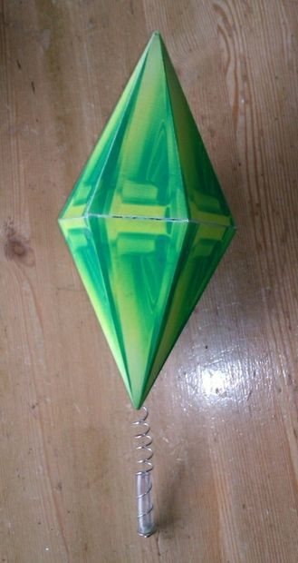 How To Make A Sims Plumbob Hat Sims Halloween Costume Couple Halloween Costumes For Adults Sims Costume
