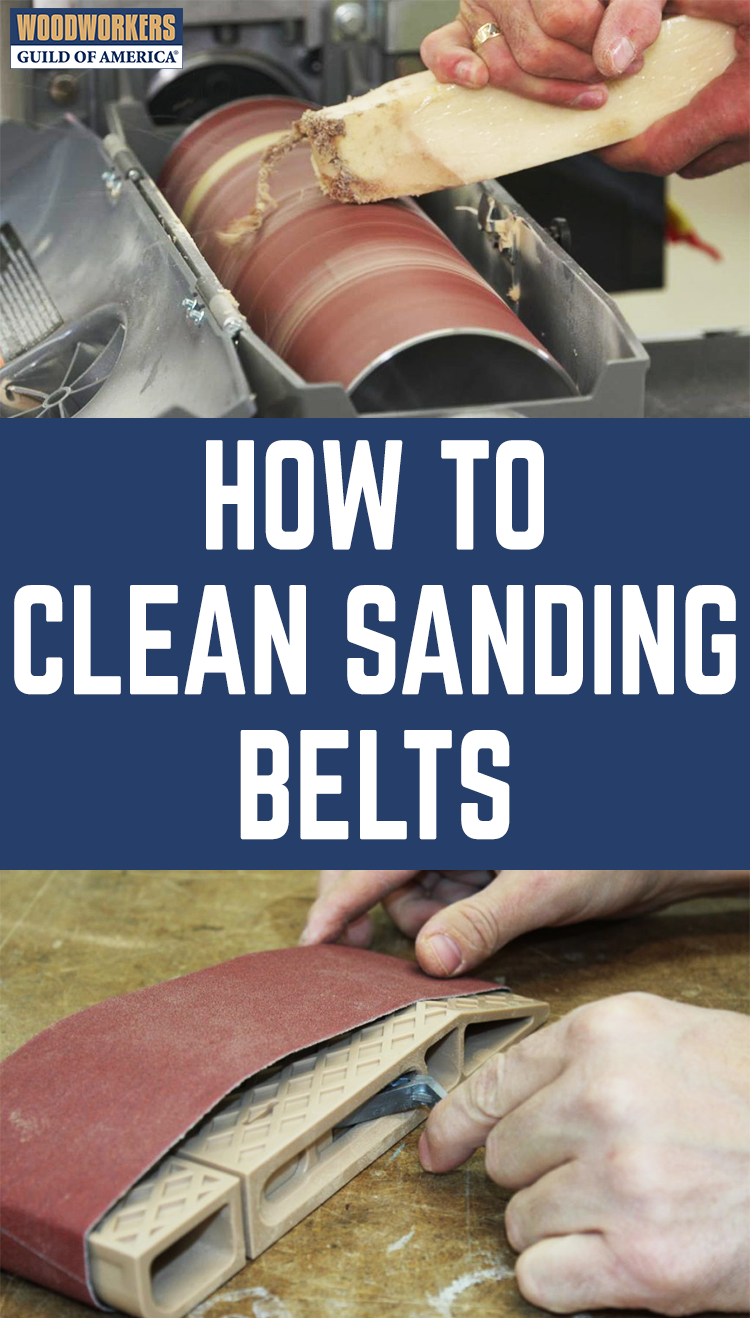 How To Clean Sanding Belts Woodworking Tips Learn Woodworking Easy Woodworking Projects