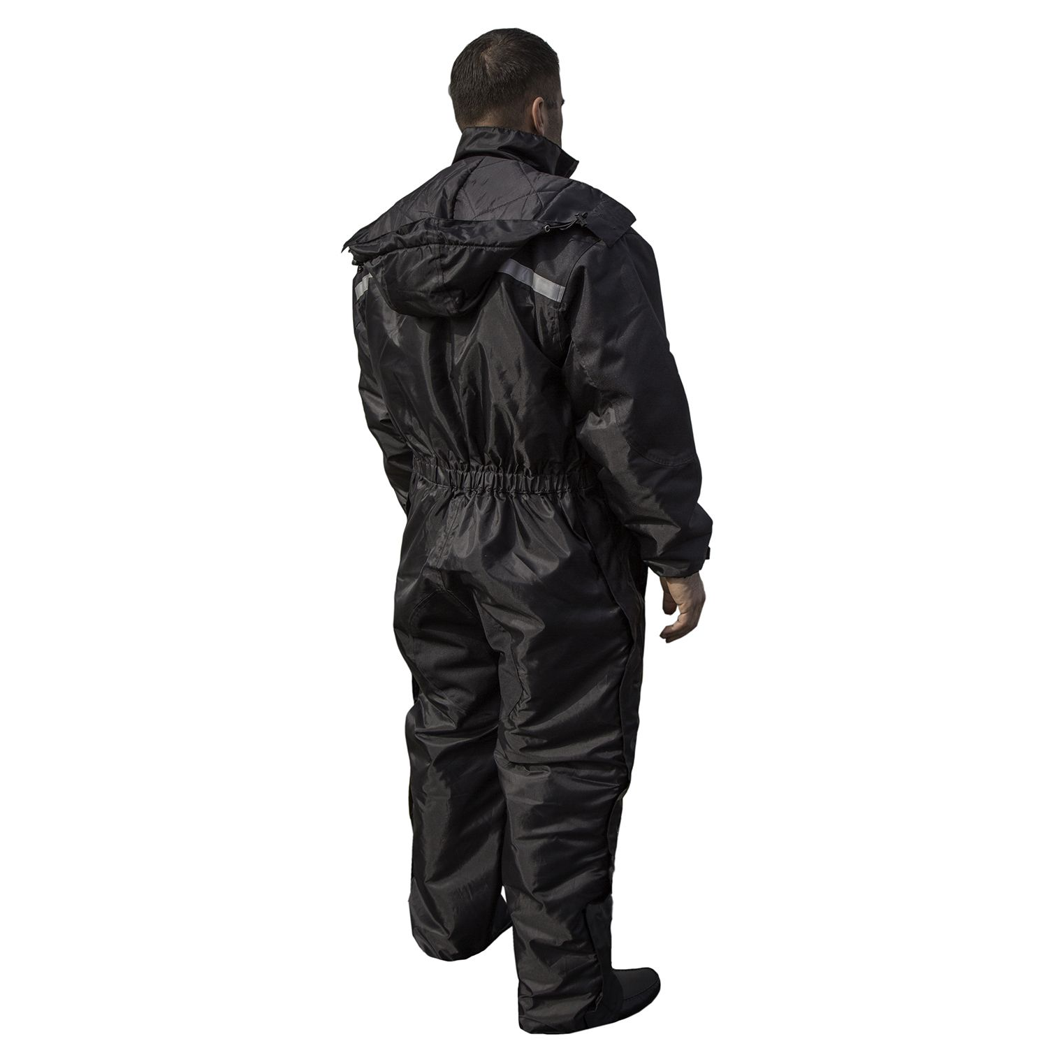 Overstock mens leather gloves - Mossi Men S Xtreme 1 Piece Black Winter Snowsuit By Mossi