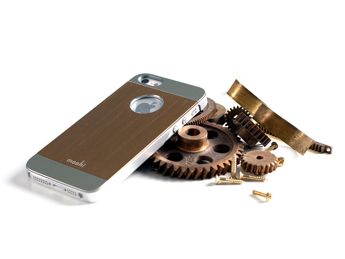Stealth protection for your iPhone 5/5s. iGlaze Armour metal case in bronze. $39.95. #iphone #iphonecase #accessory #armour #bronze #goldiphone