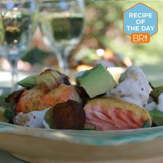 #RecipeoftheDay: Watercress salad with salmon and leek
