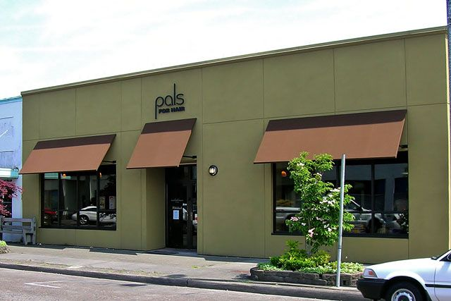 simple-hair-salong-awnings-portland | Store fronts ...