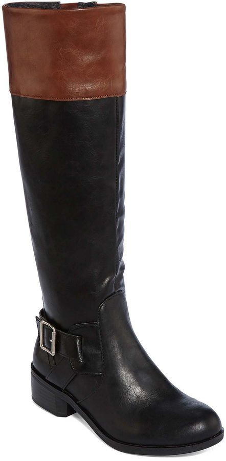 f60cac5b448ed Arizona at JCP  Dylan  Two-Tone Riding Boots