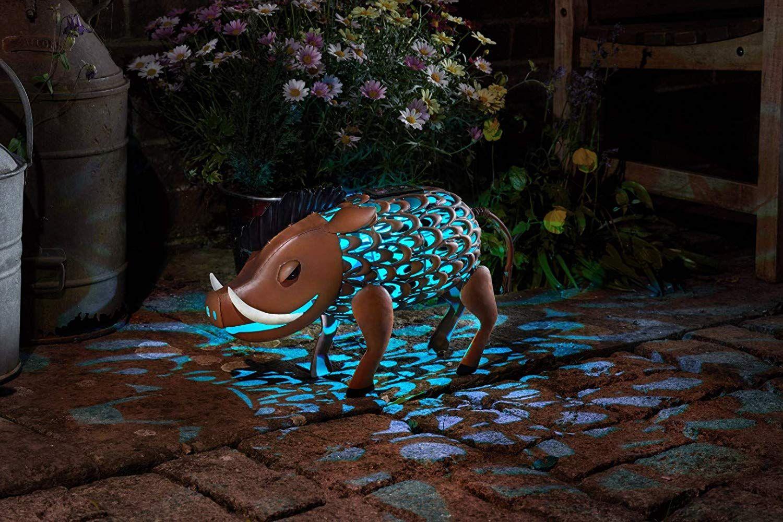 Wunderschöne Metall Garten Deko Figuren Solar Tiere mit LED