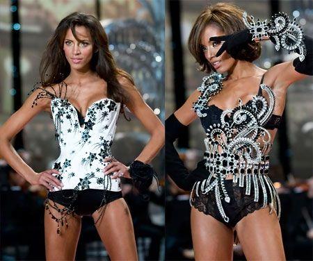victoria secret black  white corsets  fashion victoria