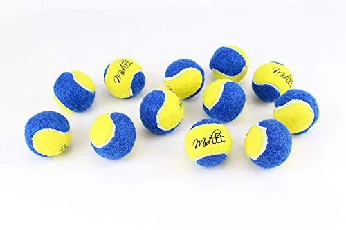 Midlee X Small Dog Tennis Balls 1 5 Pack Of 12 Blue Yellow 1 5 Inch Small Dogs Dog Toys Female Dog Diapers