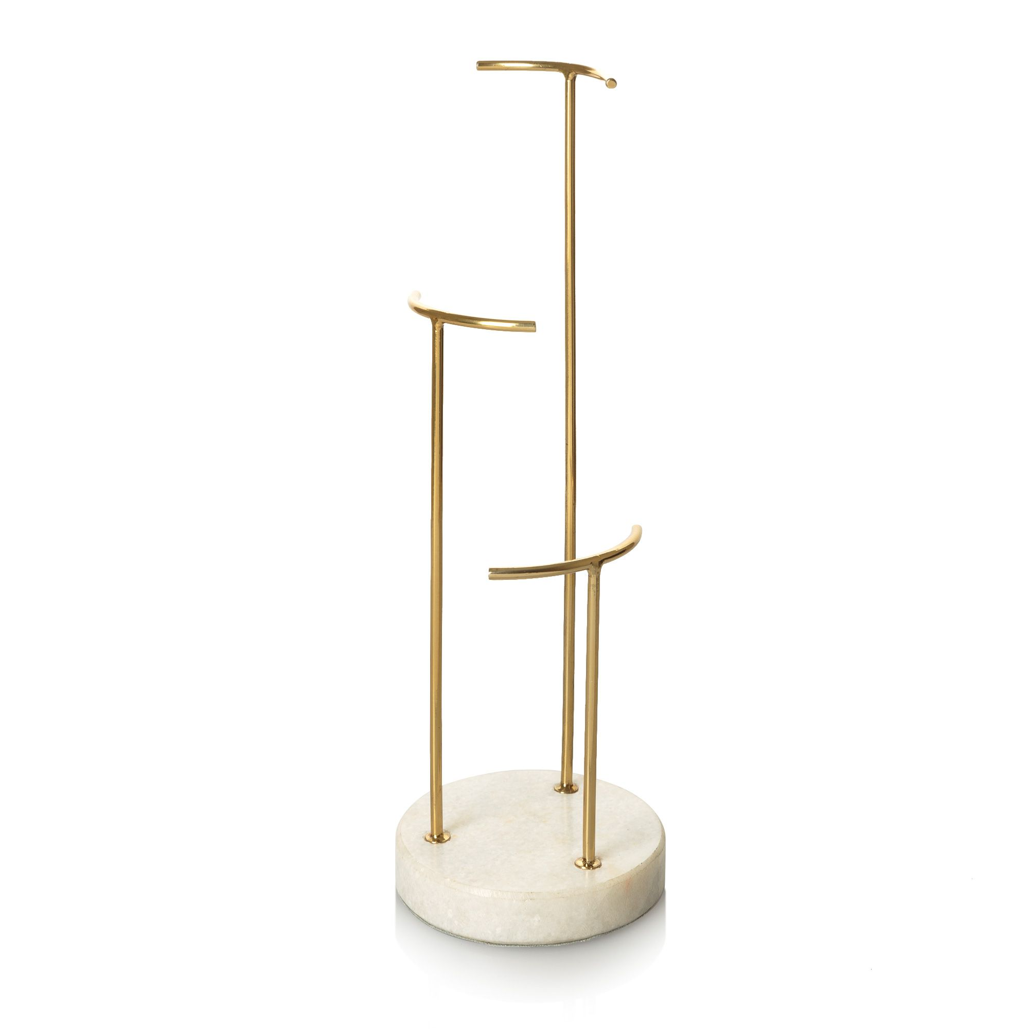 0116ad58f Buy the Gold & Marble Three Tier Round Jewellery Stand at Oliver Bonas.  Enjoy free worldwide standard delivery for orders over £50.