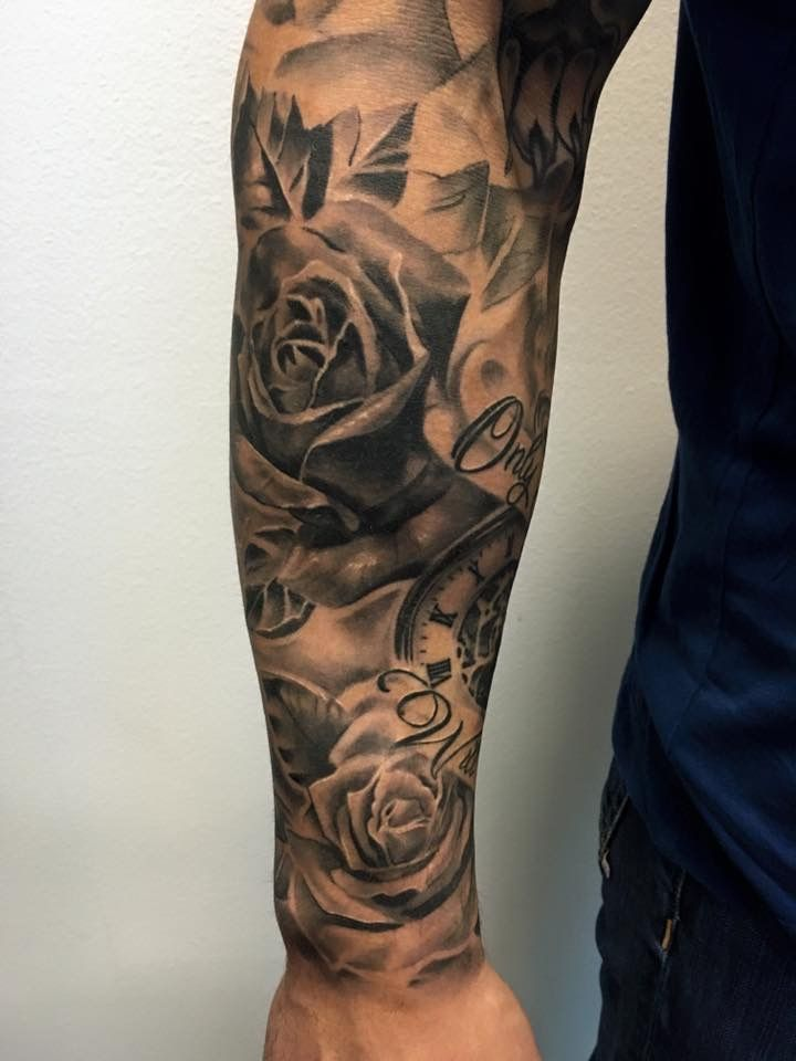 Forearm Sleeve Man Arm Tattoo Rose Mens Tattoos Dope Maori Pics Ribbon Flower