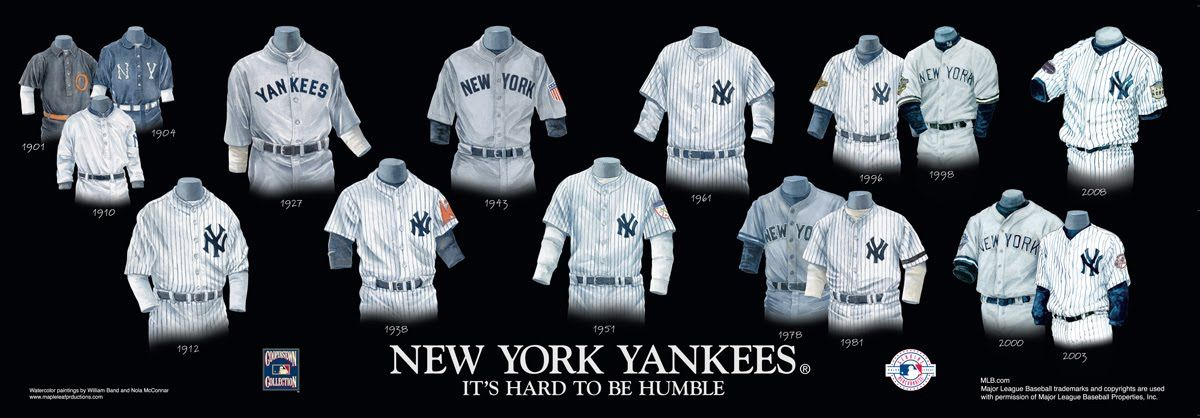 New York Yankees Uniform And Team History New York Yankees New York Yankees Baseball Ny Yankees