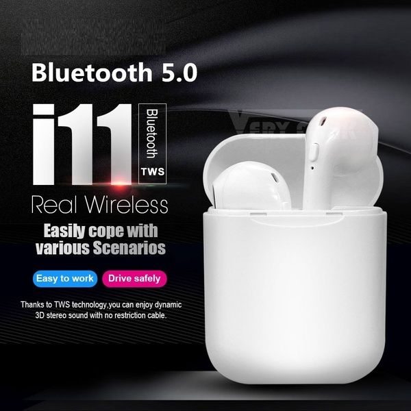 3f1fd51bd83 i11 Tws Wireless bluetooth 5.0 Earphone super bass stereo Headphone Earbuds  For iPhone xiaomi airdot pop VS i9s i10 i12 i13 tws flypods