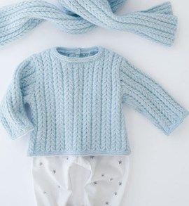 Gebreide Baby Trui Met Kabelpatroon Haken En Breien Pinterest