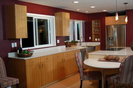 the goal for this kitchen remodel granite bay ca was to create a distinctive looking universal design kitchen for all members of the family - Maroon Kitchen Decor