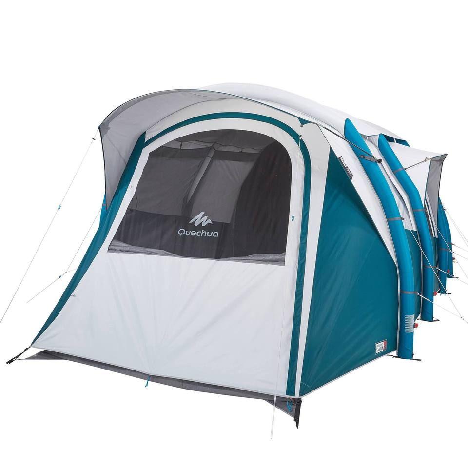 Quechua Air Seconds Fresh Black 6 3 Inflatable Camping Tent 6 Person In 2021 Tent Camping Tent Camping