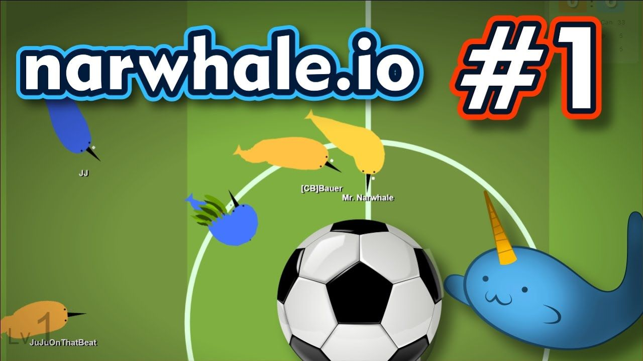 Narwhale io - ROCKET LEAGUE DE BALEIAS NARVAL - Gameplay #1