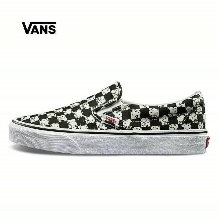 320d1e3657b151 Vans x Peanuts Snoopy Vans Era Black White VN0A38F7QQO Vans For Sale  Vans