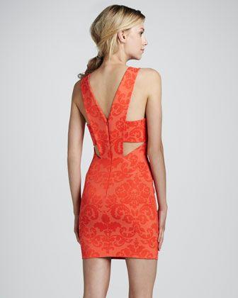 Sleeveless V-Back Shift Dress by Robert Rodriguez at Neiman Marcus.