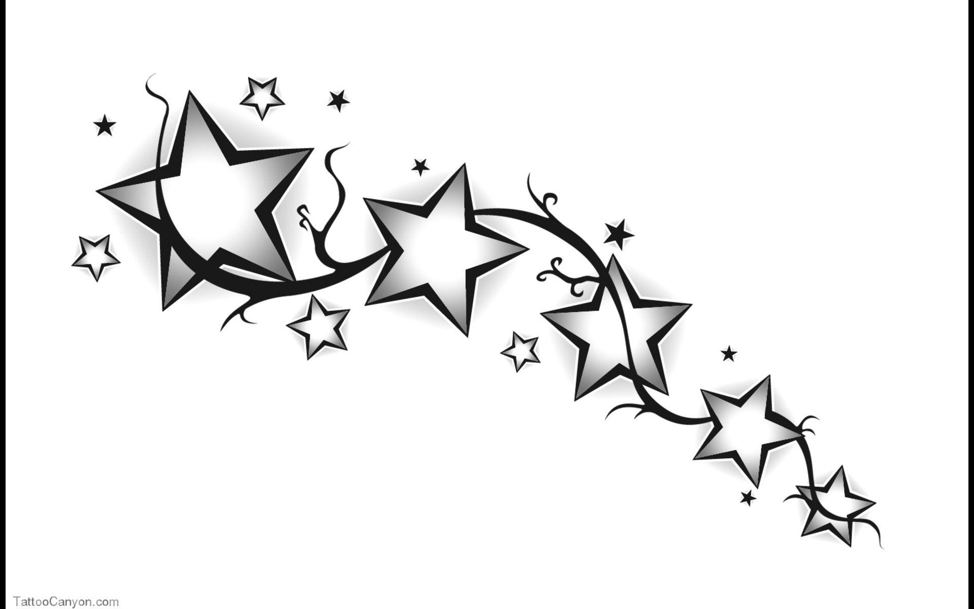 Tribal Shooting Star Drawing - Viewing Gallery | tatoos | Pinterest ...