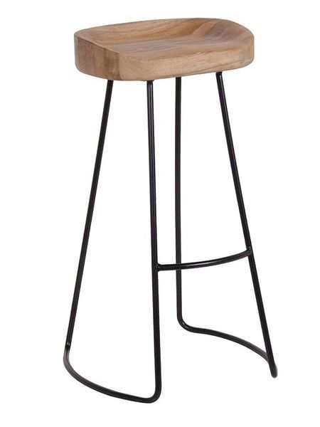 Weathered Oak Bar Stool Nordic House Harlinsdale Barn
