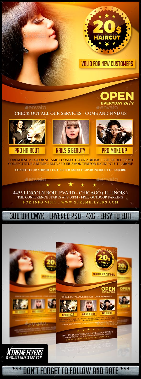 Hair Salon Flyer  Salons Flyer Template And Template