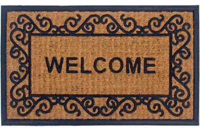 Panama Coir 2 Piece 18 Inch X 30 Inch Welcome Door Mat Set In Natural Rugs Runners Doormats Rugs Rugs In Living Room Welcome Door Mats