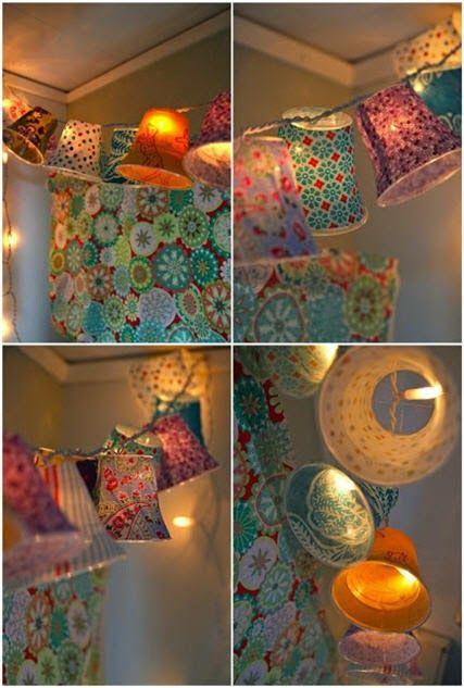 طريقة عمل زينة رمضان من الأكواب البلاستيك Diy Crafts Crafts Diy Lamp Shade