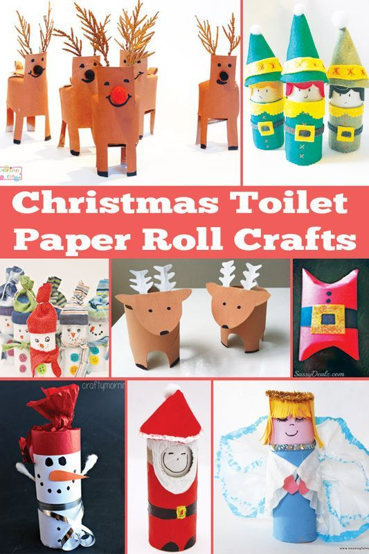 Christmas Toilet Paper Roll Crafts Christmas Toilet Paper