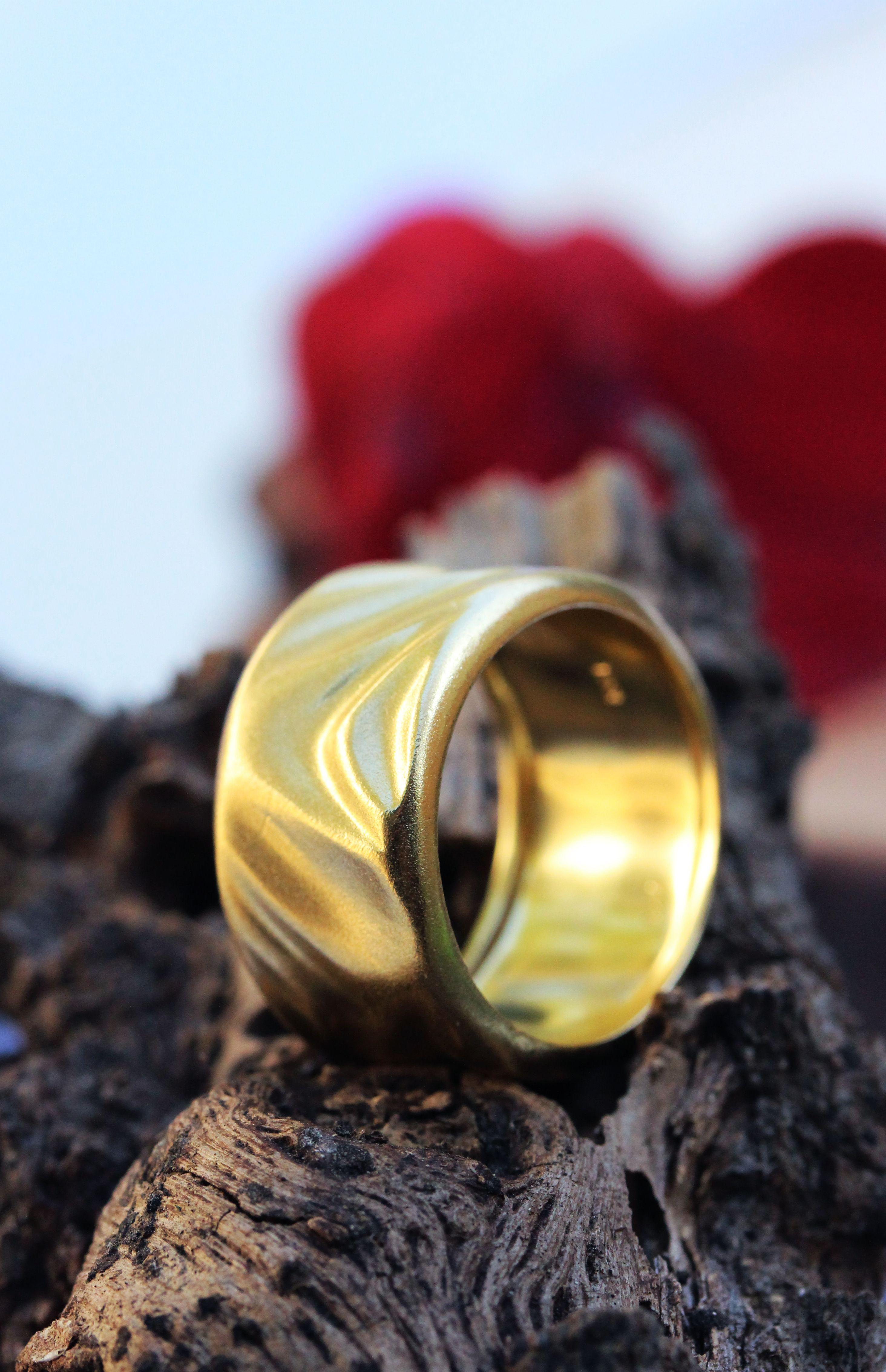 Gold Band, Gold Wedding Band, 14K Wedding Ring, Yellow