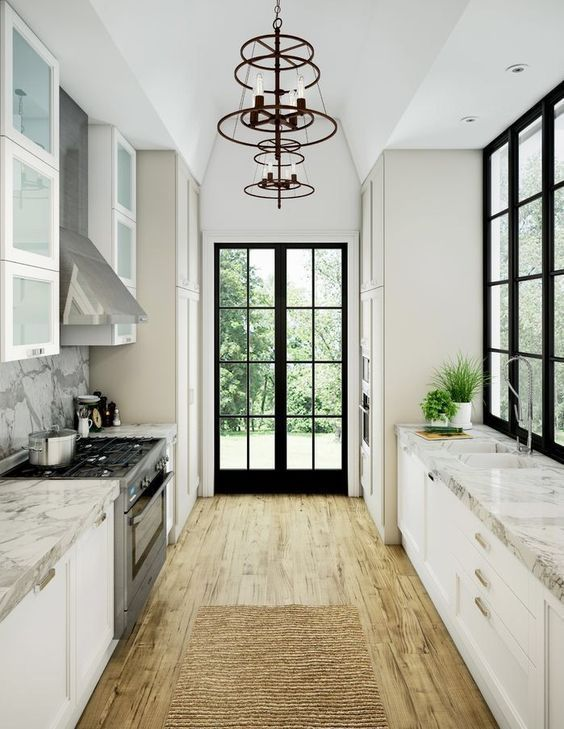 Photo of 29 Awesome Galley Kitchen Remodel Ideas, Design, & Inspiration #kitchenremodelid…