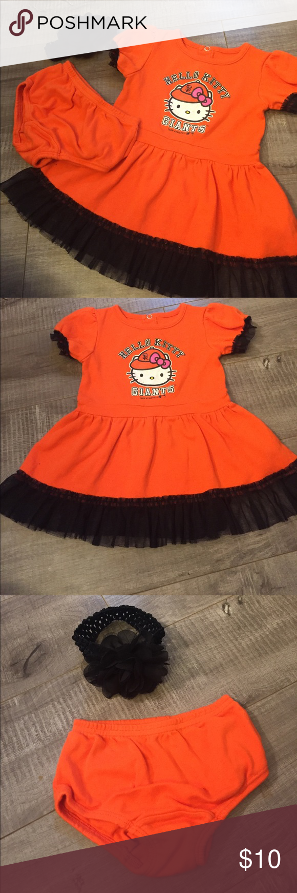 Orange dress casual  Hello Kitty SF Giants Dress Set San Francisco Giants Hello Kitty