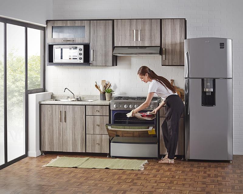 Cocina Texas 240 Cm Con 9 Puertas 3117233 Coppel En 2020 Cocinas Integrales Cocinas De Casa Diseno De Armario Para Dormitorio