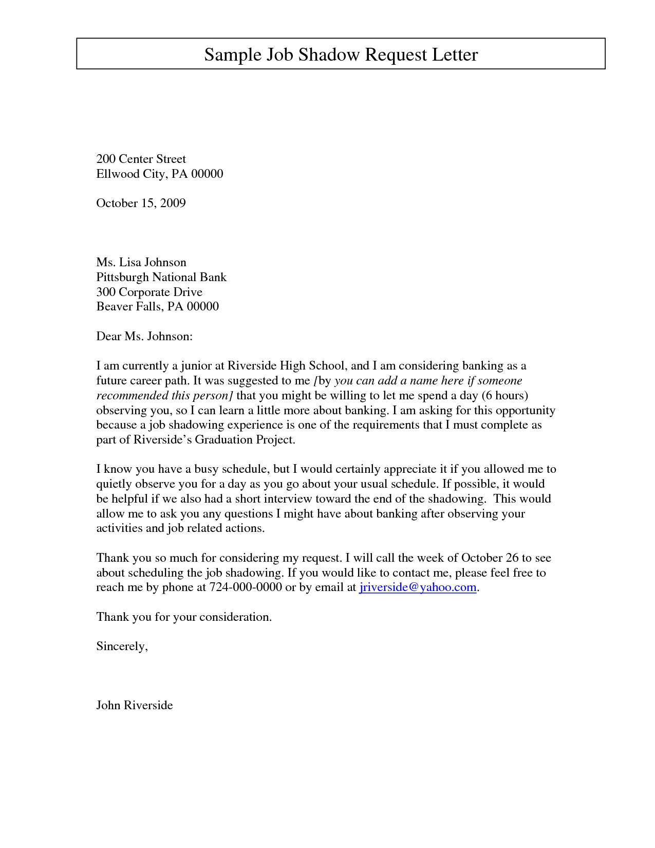 employment letter asking for your job back | Sample Job Shadow ...