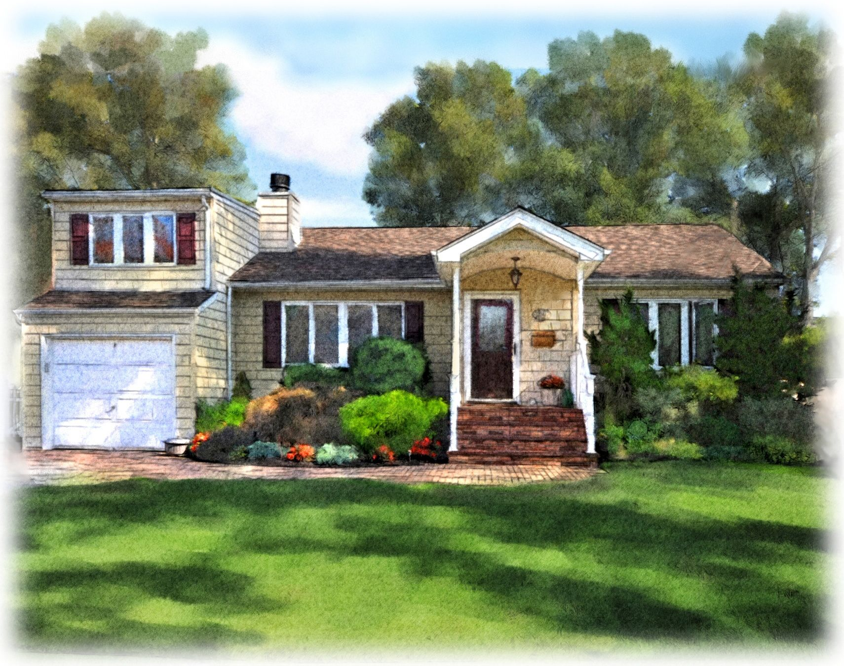 House Paintings watercolor painting house looking for professional house painting