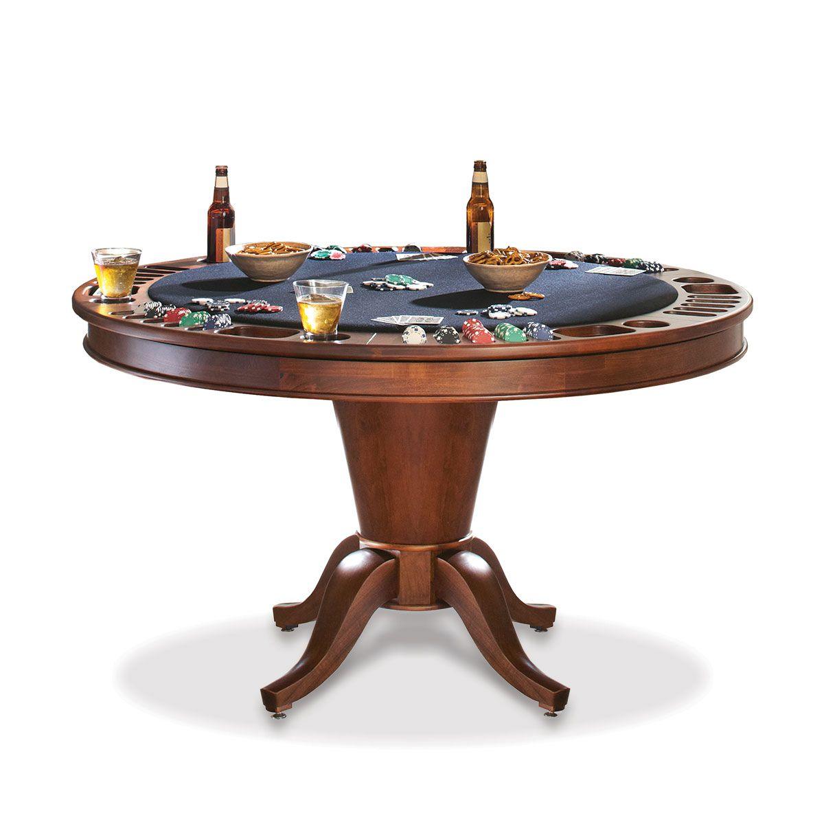 Hardwood Reversible Poker Table Morris Collection Poker Table