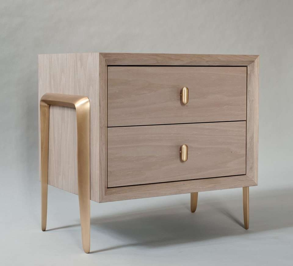 Best Serge Bedside Table By Demuro Das With Solid Satin Bronze 400 x 300