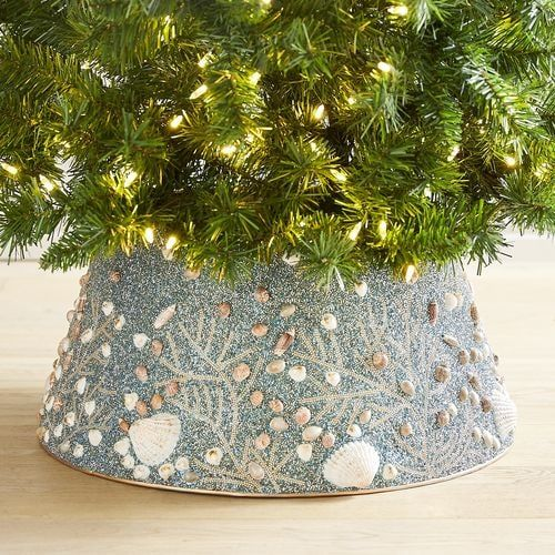 Pier One Christmas Trees.Coastal Shells Tree Collar Pier 1 Imports For The Home