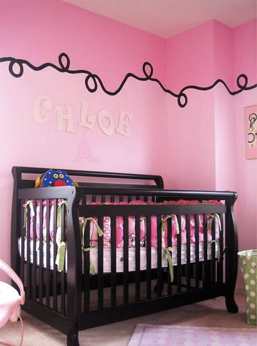 Home Remodeling Improvement Pretty In Pink Design Ideas Baby Girl Room Decor Nursery Wall Decor Girl Girls Room Paint