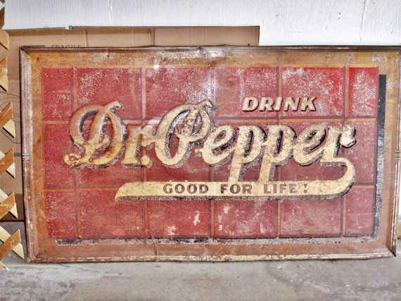 WEATHERED BUILDING GENERAL STORE DR PEPPER SIGN HO O N SIGN DECAL 1.5 X 4