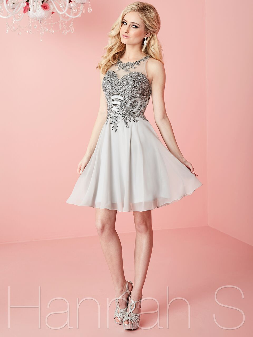 silvergunmetal short homecoming dress hair pinterest