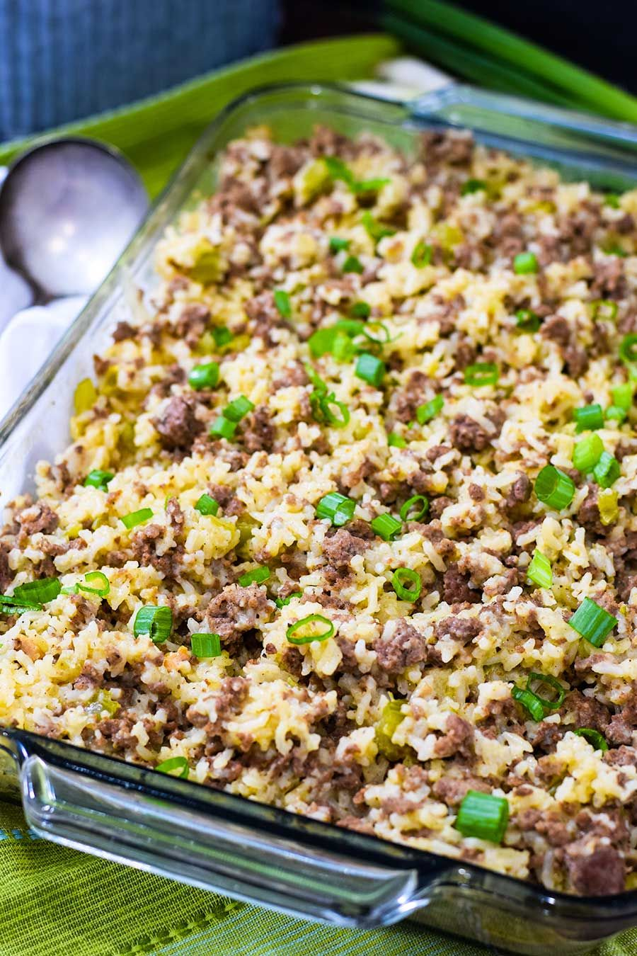 Easy Ground Beef And Sausage Rice Casserole Is Simple To Make With Tons Of Flavor In 2020 Ground Beef Sausage Recipe Rice Casserole Recipes Sausage And Rice Casserole