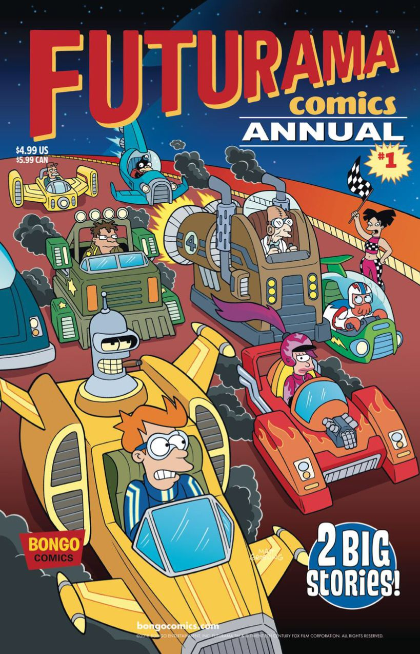 Futurama Comic Annual 1 Comic Covers Art