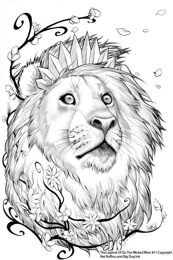 Aslan the chronicles of Narnia | Coloring | Pinterest | Adult ...
