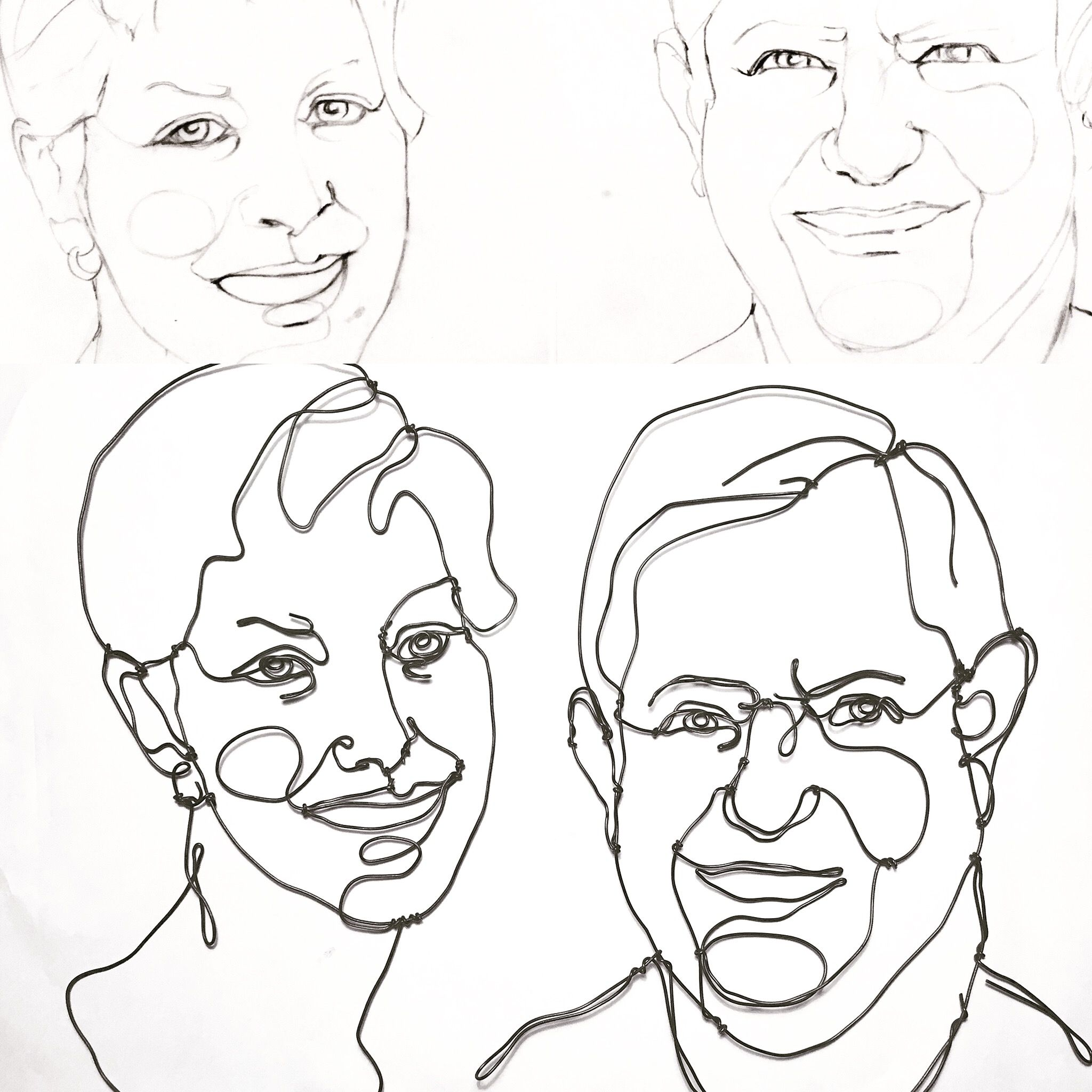 Sketches and sculptures #wire #art #portrait #sculpture #drawing ...