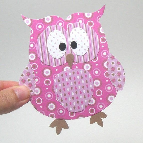 Adorable owl craft for Tommie Jo's baby shower