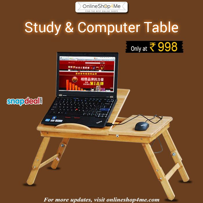 Laptop Table Buy Now Price: Rs 998