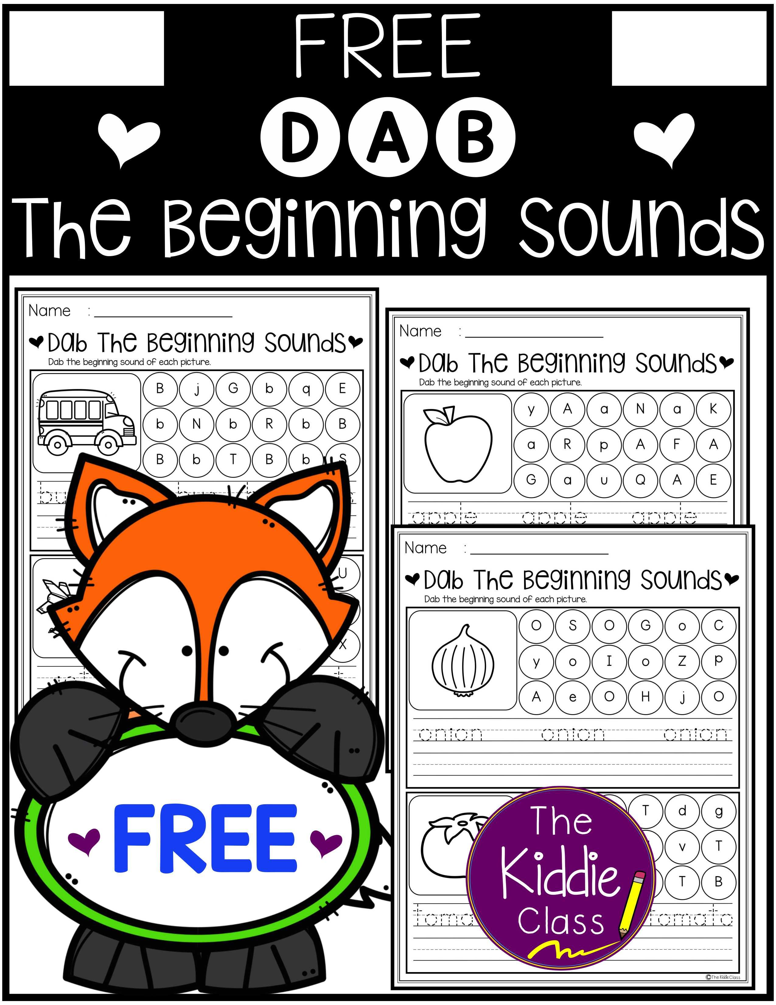 Free Beginning Sounds Dab