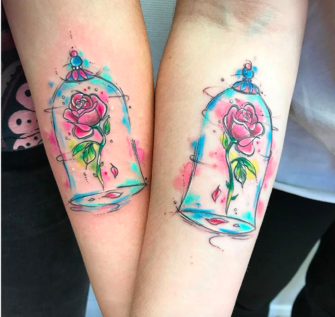 Belle Rose Tattoo Disney Tattoos Small Beauty And The Beast Tattoo Small Rose Tattoo