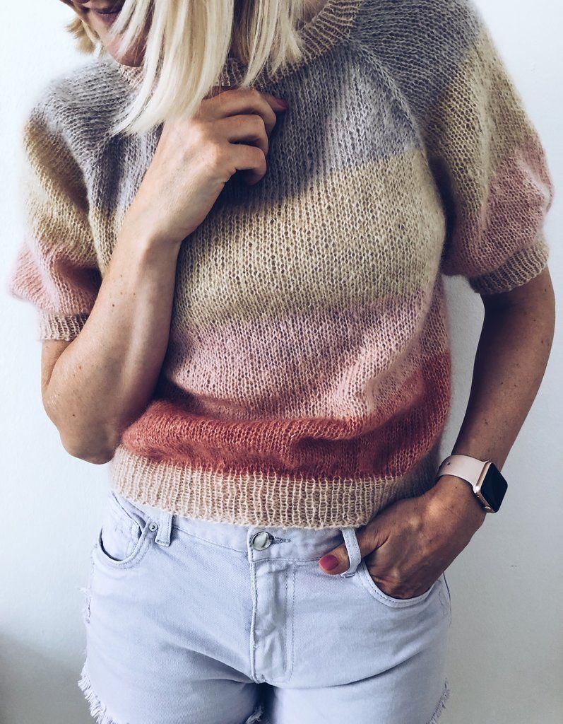 Sorbet Bluse #strikkeoppskriftgenser